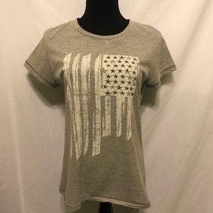LIKE NEW Natural Reflections American Flag T Shirt